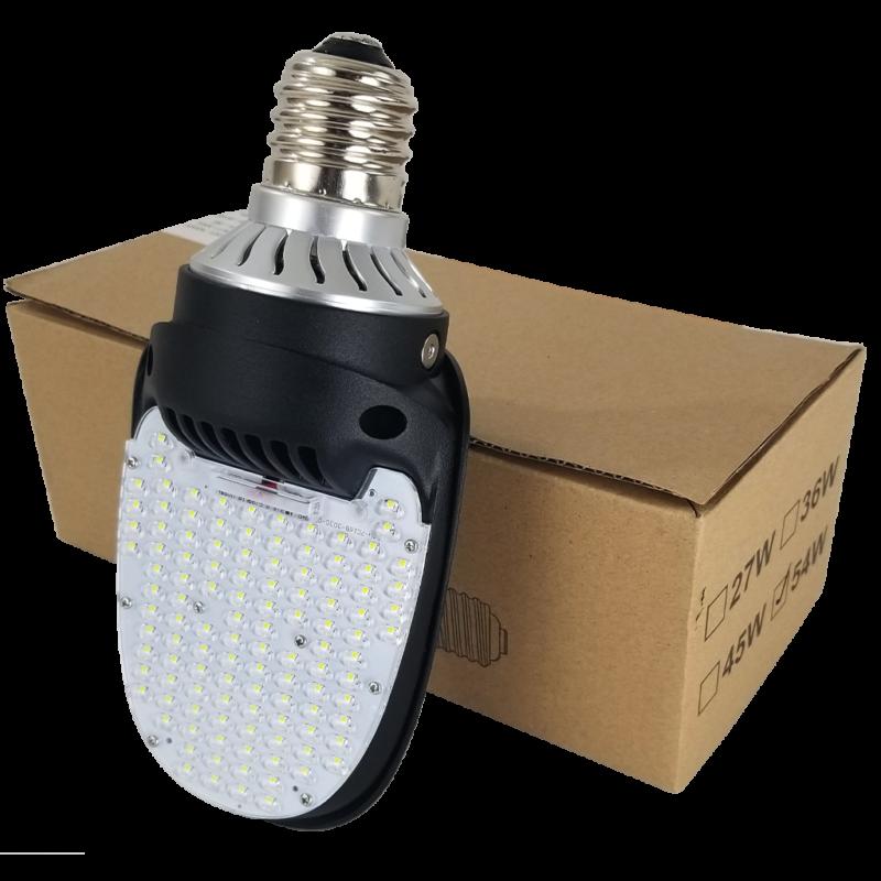 54 Watt 180° Outdoor Area Bulb LED Retrofit - Silver+ -5900lm-54w-000